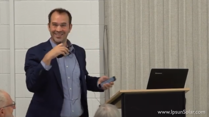 Recorded Live: Our CEO Herve presents at solar church