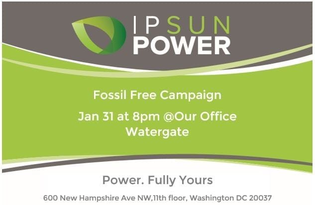 Fossil Free Campaign - Ipsun Power
