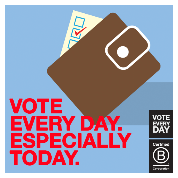 Certified B Corporation Ben & Jerry's and more than 2,600 Companies Launched the 'Vote Every Day Campaign'
