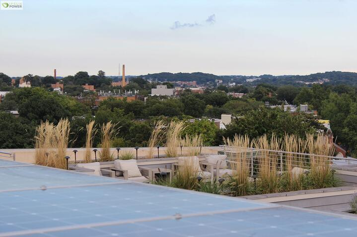 Who said solar isn't looking good? Solar rooftop deck in Washington D.C.