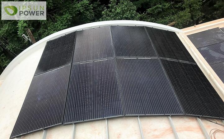 Who said you can't install solar panels on a curved roof?