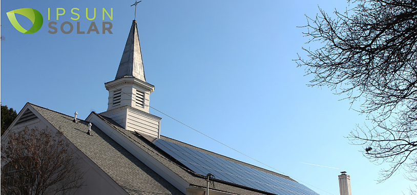 OLQP landscape - solar panels on church in Arlington Virginia 2