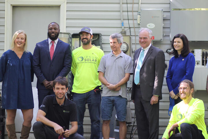 Senator Kaine Signs on to Support Solar Incentives for Lower Income Homeowners