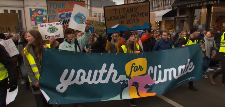 Europeans March for Political Action on Climate Change