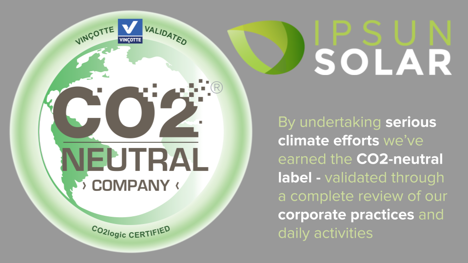 Ipsun Solar Now Carbon Neutral!