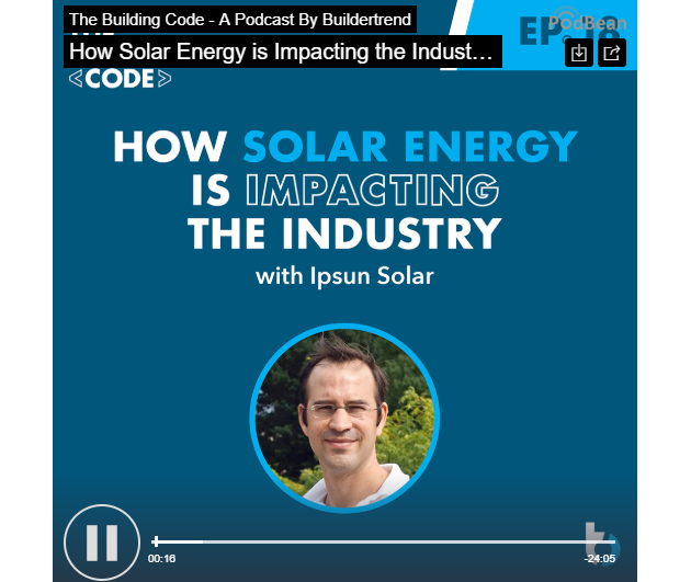 Herve Billiet talks solar on The Building Code podcast
