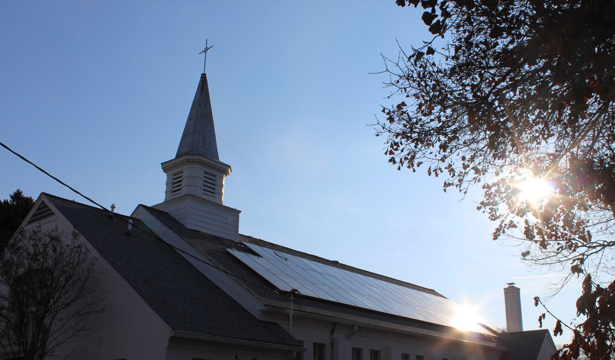 Solar Power Project in Progress at Our Lady Queen of Peace