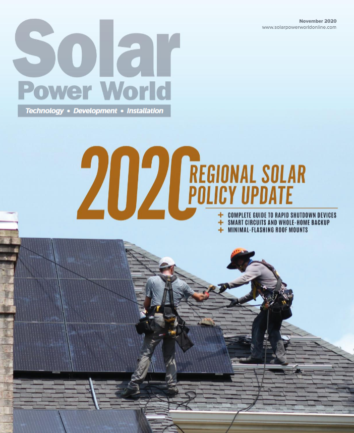 Ipsun is proud to be featured in Solar Power World's November issue!