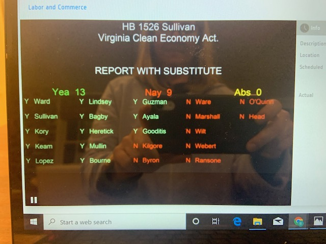 Update: Groundbreaking Virginia Clean Economy Act is Moving Forward in General Assembly
